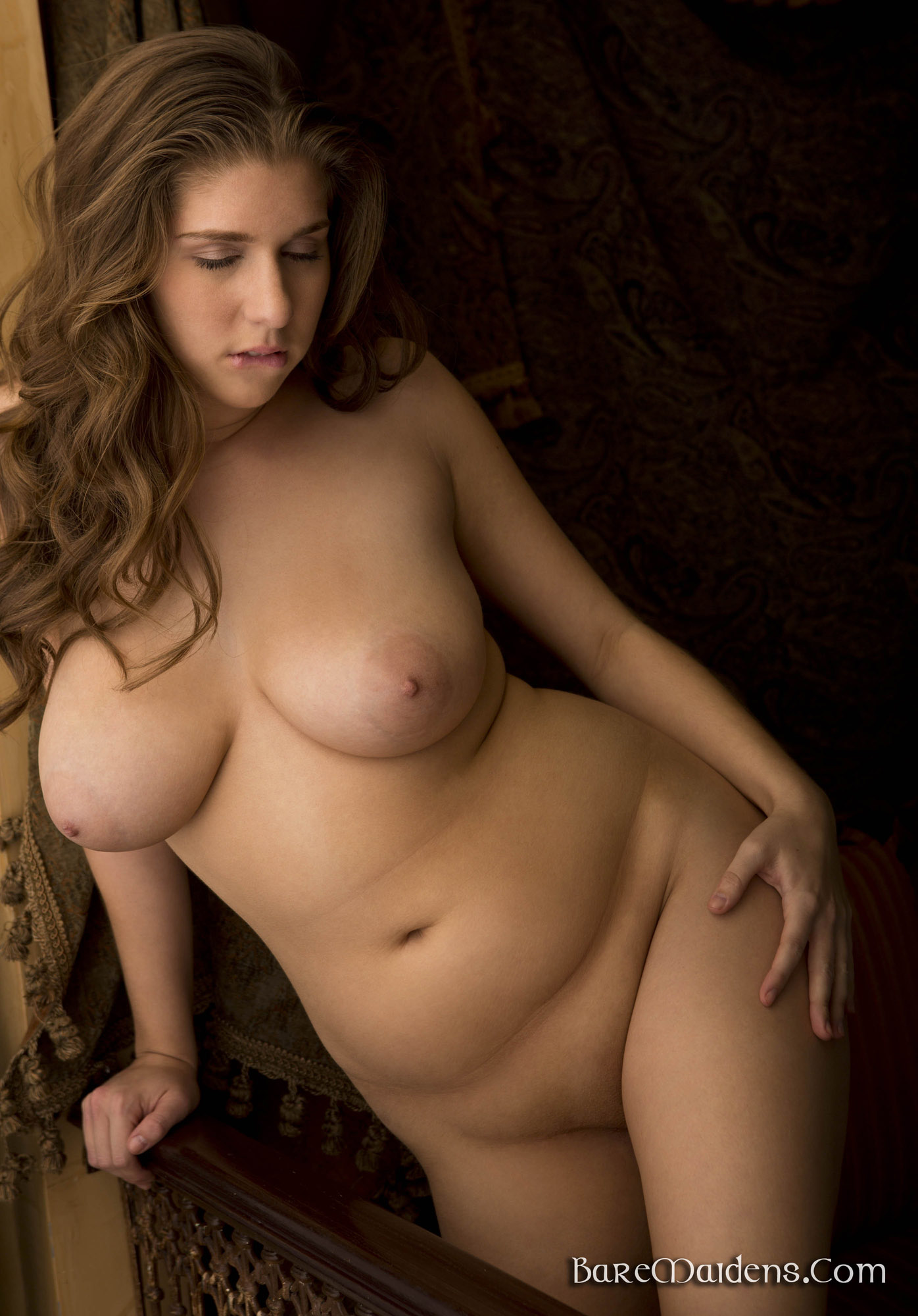 sexy nude woman beautiful rounded breasts