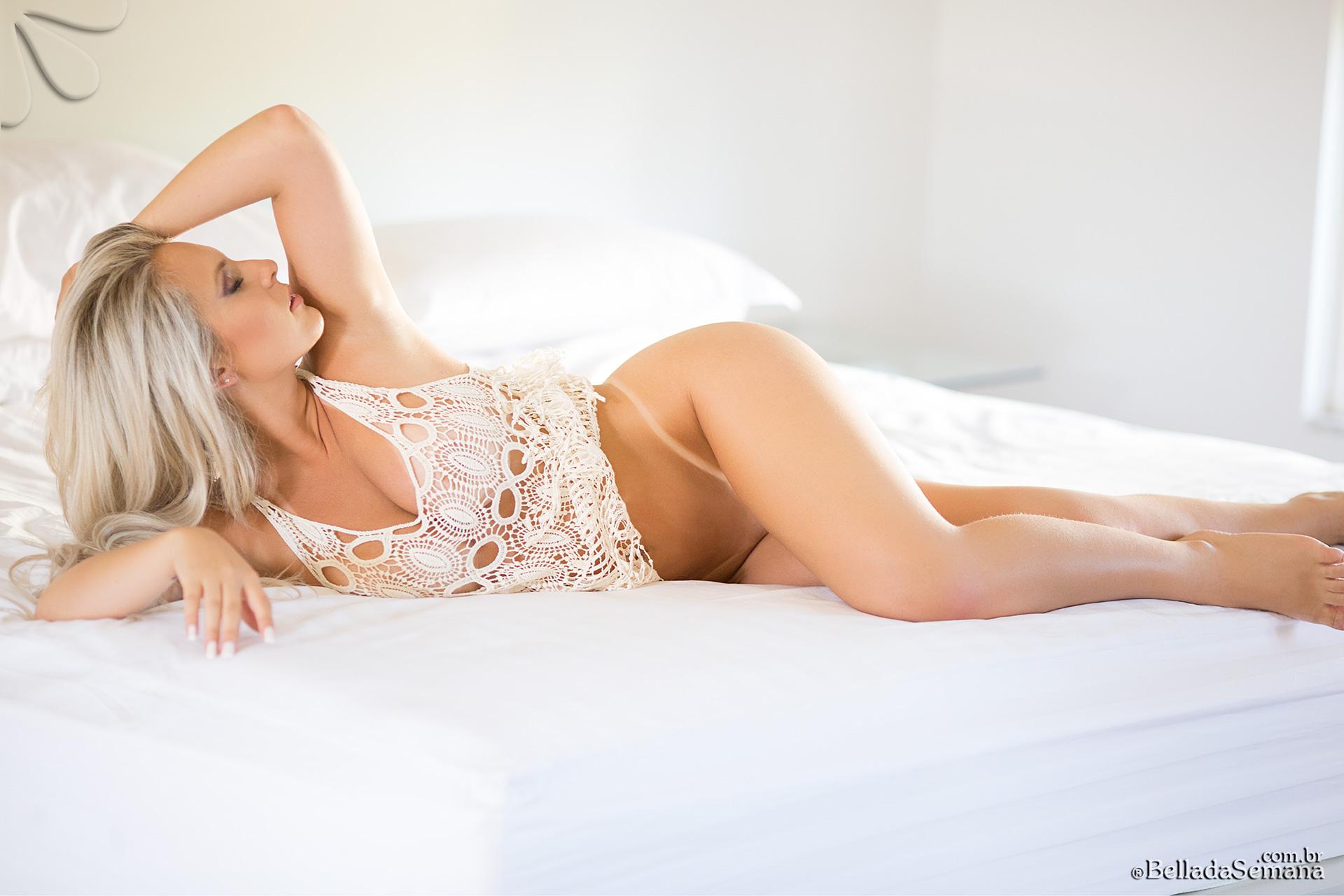 Cassiane Pires In Bed for Bella Club - Curvy Erotic