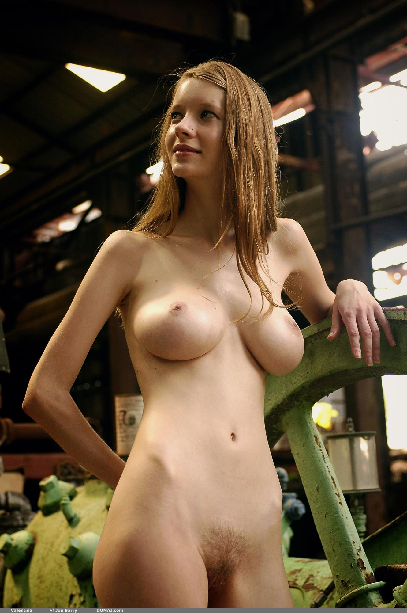 Are Naked girl in factory