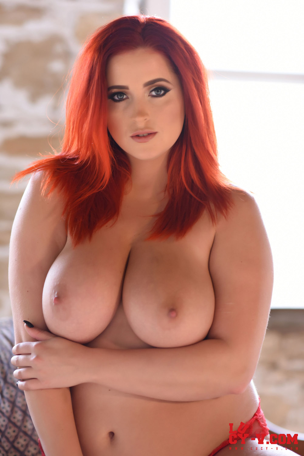 Lucy collett red lingerie something is
