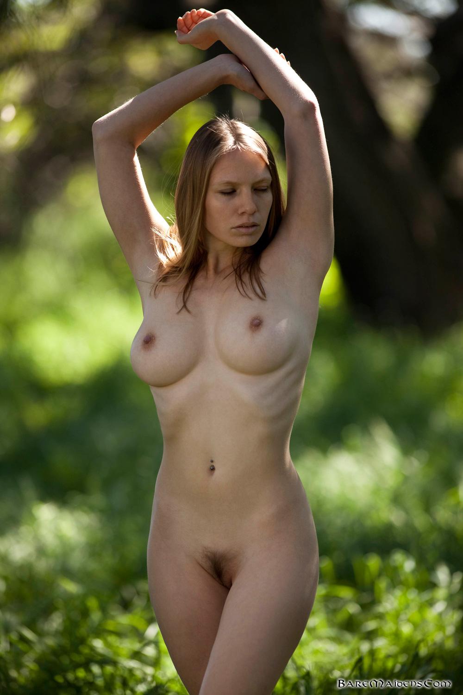 Bare beautiful naked woman