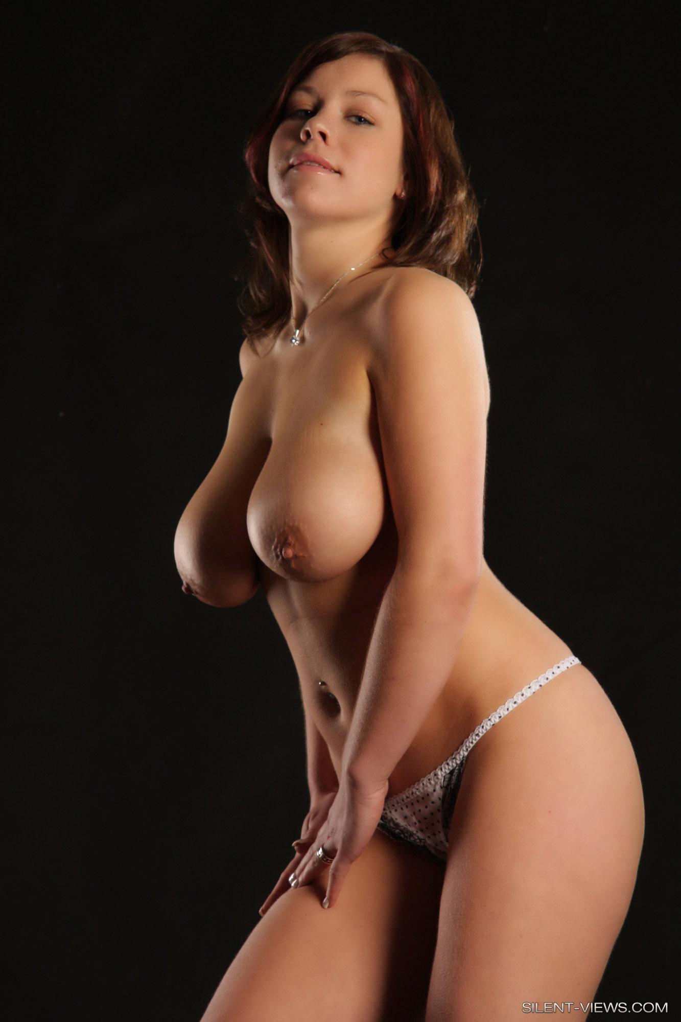 threesome cumshot on big tits