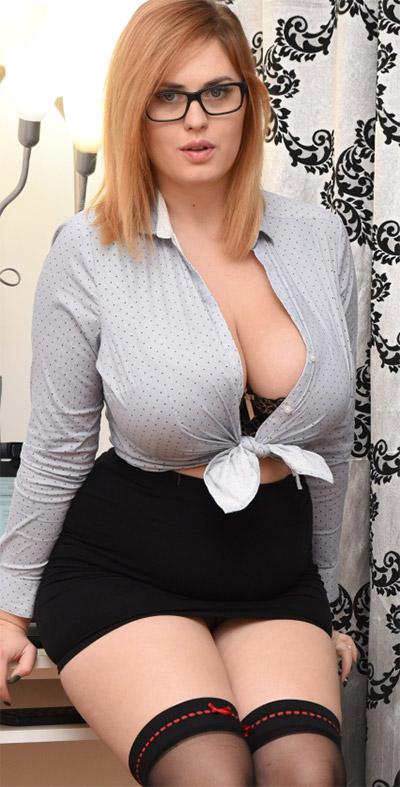 Alexsis Faye Busty Secretary