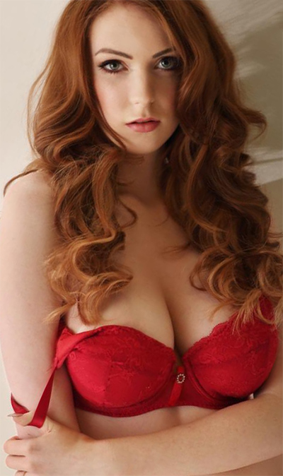 Alice Brookes Red Hot Lingerie Session