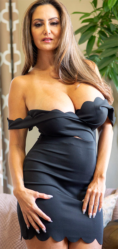 Ava Addams Black Dress Seduction