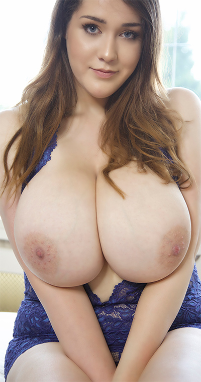Bella Brewer Blue Lace Breasts for Pinupfiles