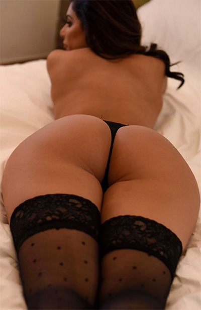 Charley Springer Black Panties Bedroom