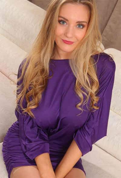 Charlie B Silky Purple Dress for Only Tease