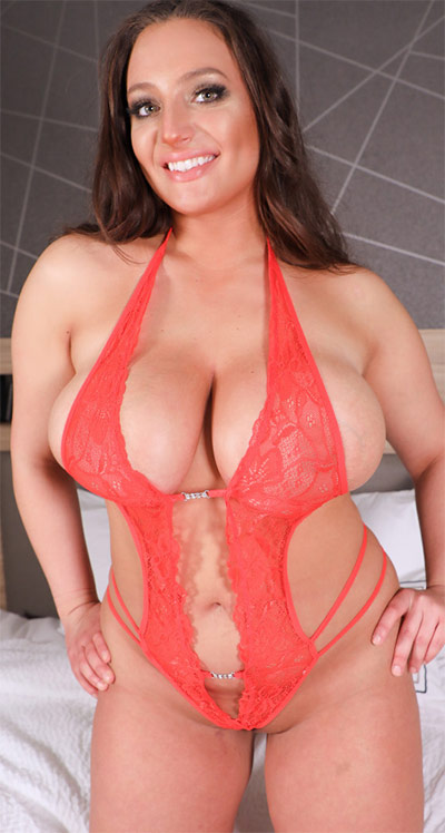 Chelsea James Valentines Day Red Lingerie
