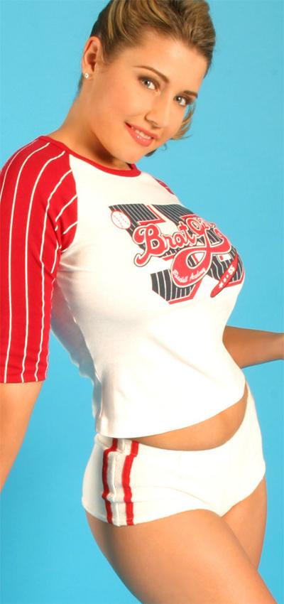 Erica Campbell Busty Baseball Fan for Pinupfiles