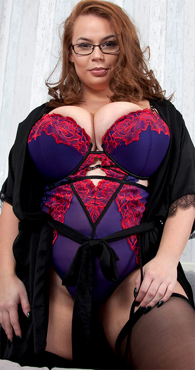 Gina G Sexy Robe and Lingerie Busty Britain