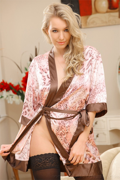 Hayley Marie Robe and Stockings Art Lingerie