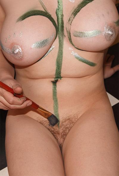 Hilary Craig Nude Body Painting