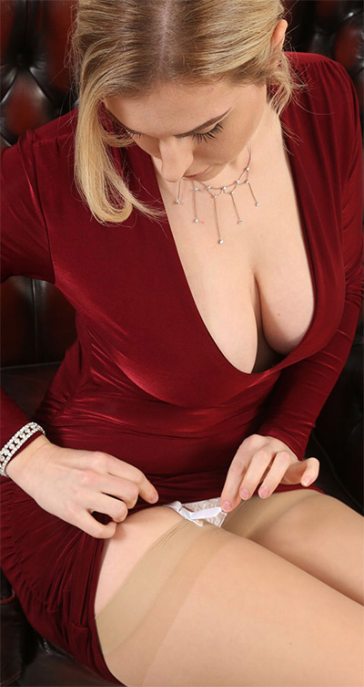 Jenny James Red Dress Date Only Tease