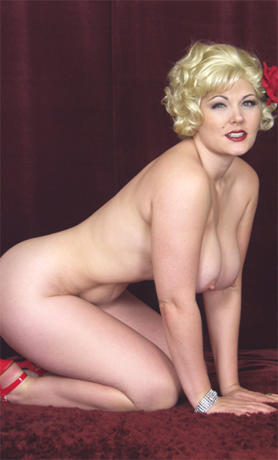 Kate Donovan Red Rose Nude Pinup
