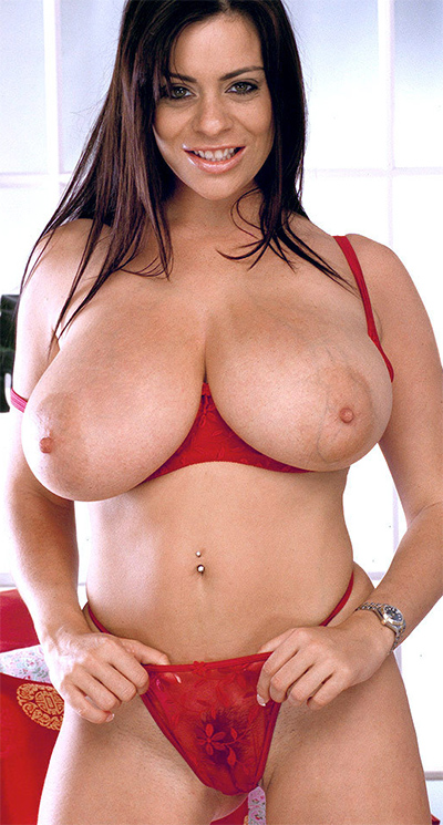 Linsey Dawn McKenzie Red Lace Lingerie