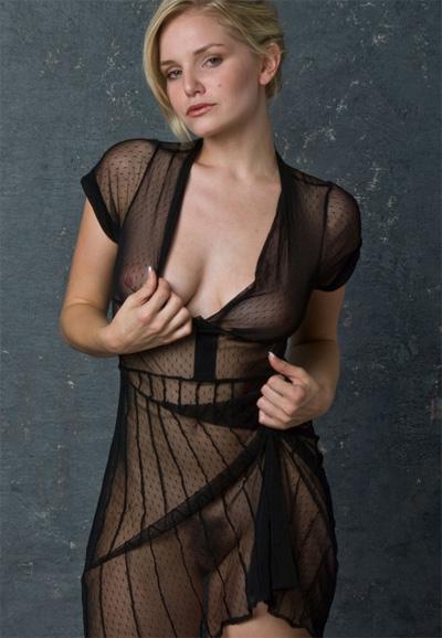 Liz Ashley Sheer Dress for Morey Studios