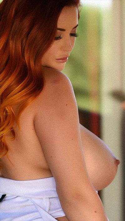 Lucy Vixen Shooting In White Bodysuit