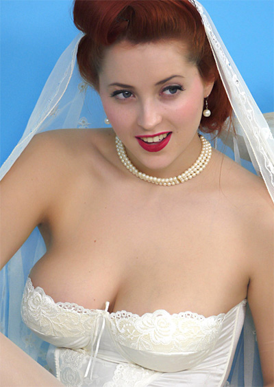 Lucy Vixen Bridal Sweet for PinupWOW