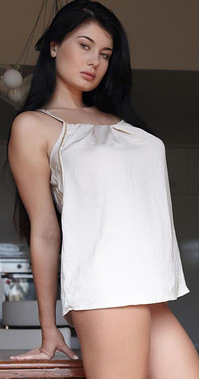 Lucy Li Bethora Silk Dress for Met Art
