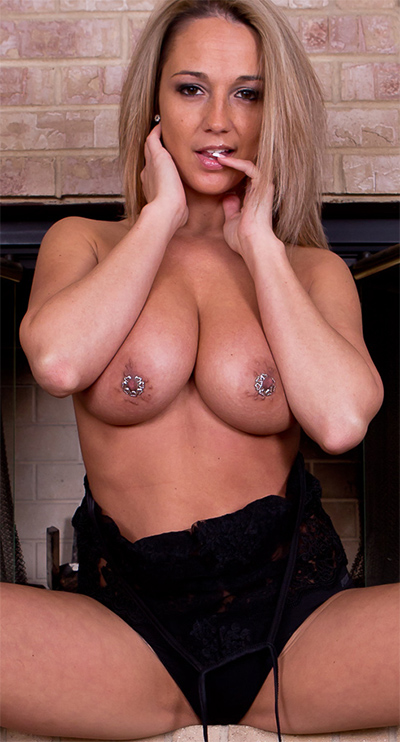 Nikki Sims Sheer Top and Bare Breasts