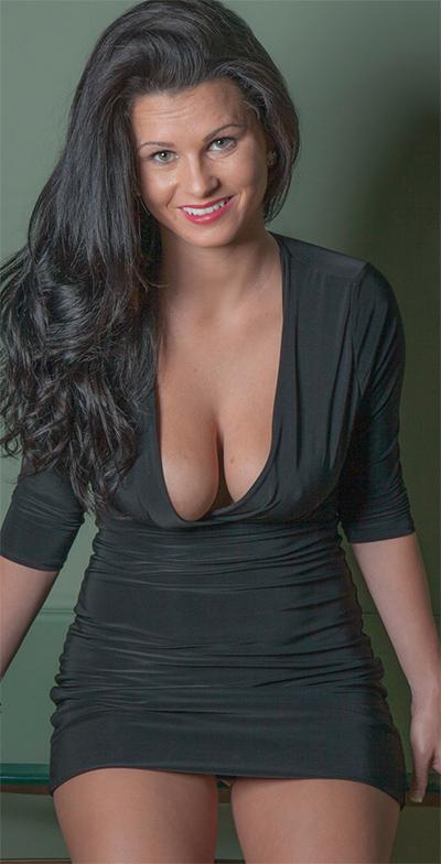 Piper Jones Skin Tight Black Dress for Cosmid