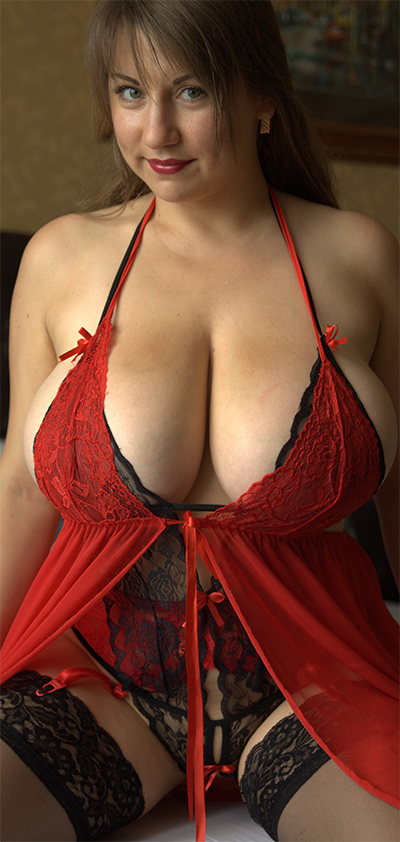 Samanta Lily Red and Black Lace Lingerie