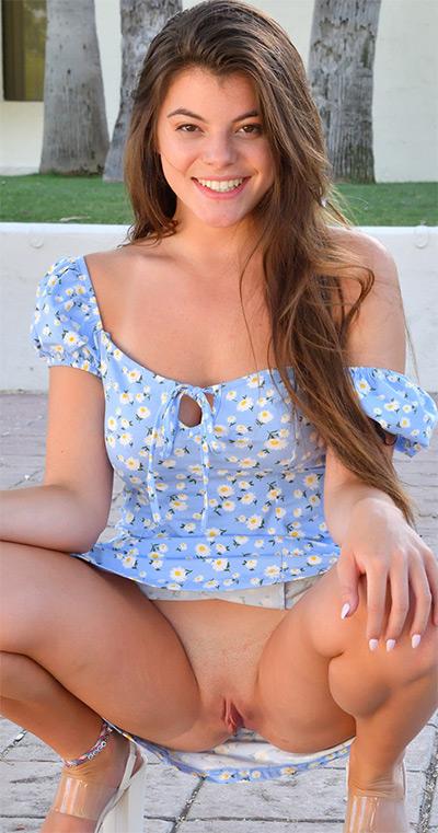Scarlett FTV Girls Blue Dress Flasher