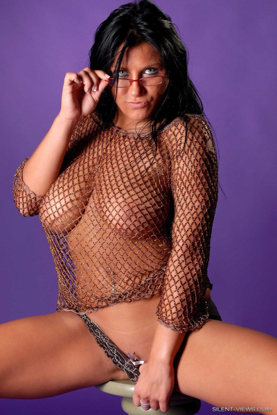 Sindy Sheer Fishnet Silent Views