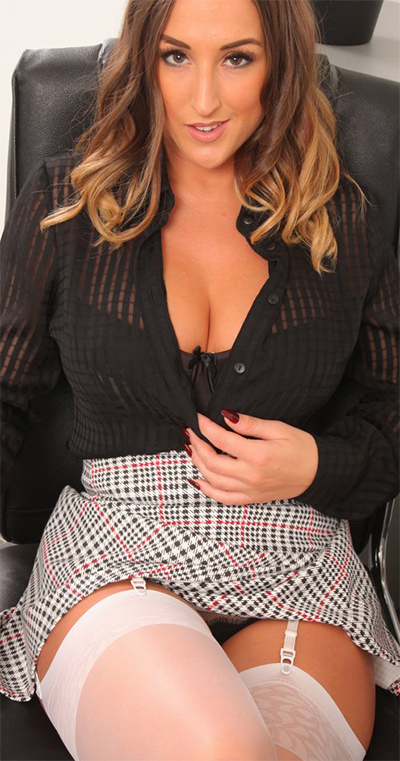 Stacey Poole Sheer Blouse Secretary for Only Tease