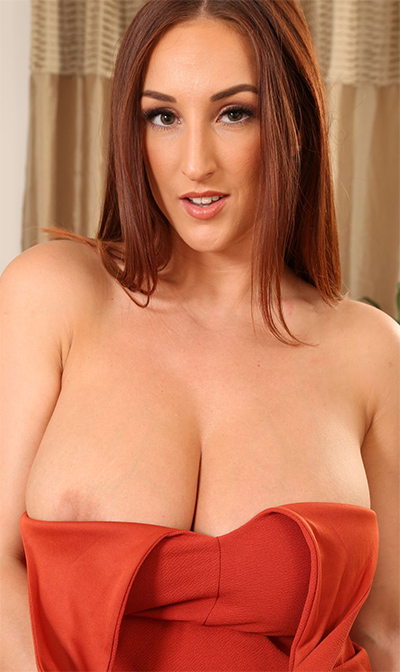 Stacey Poole Orange Dress Date for Only Tease