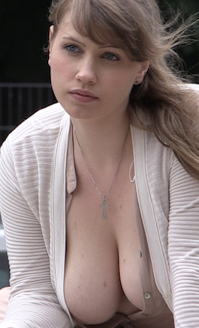 Big Boobs Studying In Public for Frivolous Dress Order