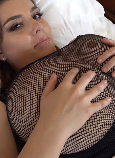 Xenia Wood Fishnet Breasts