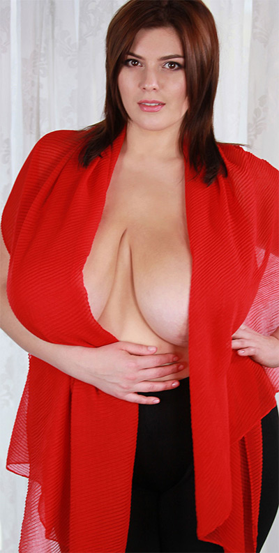 Xenia Wood My Breast Wearing Red