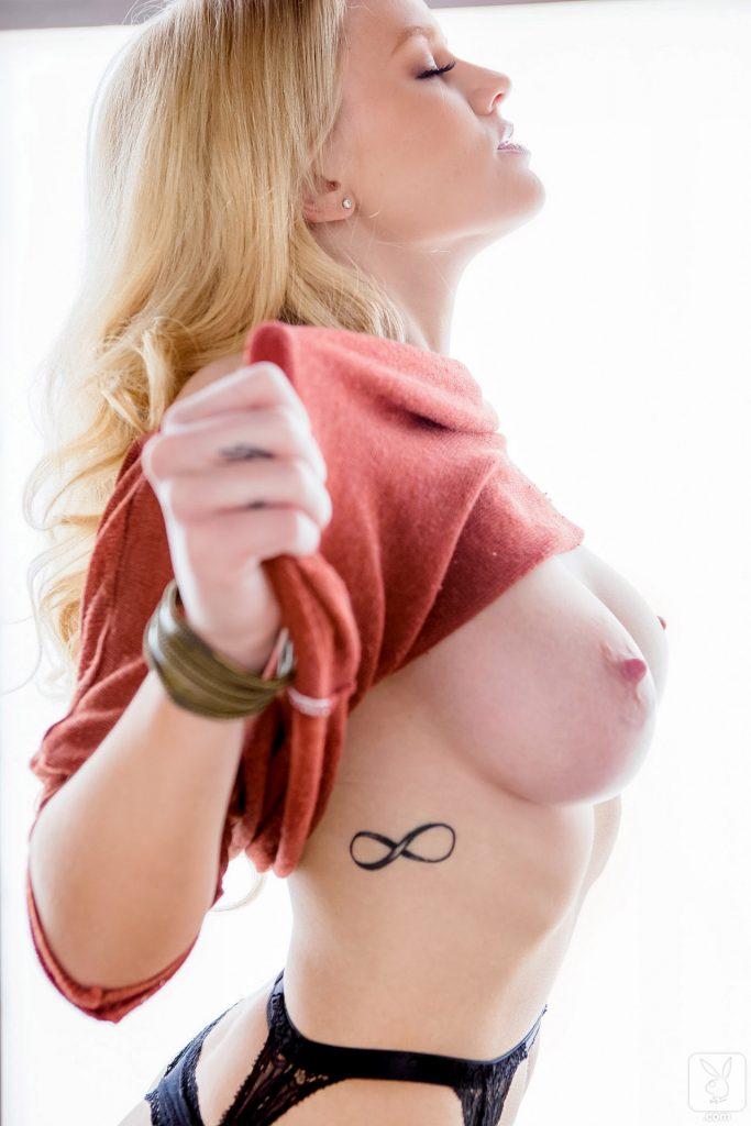 Anna Sophia Berglund Busty Blonde Playboy