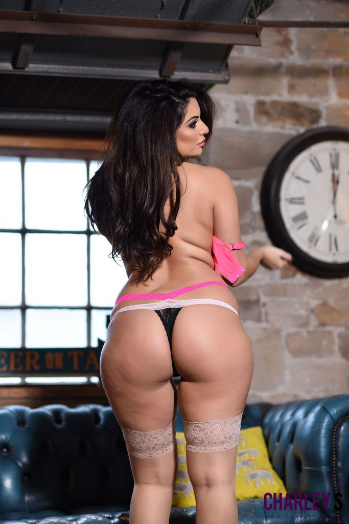 Charley Springer Pink Bra and Black Panties