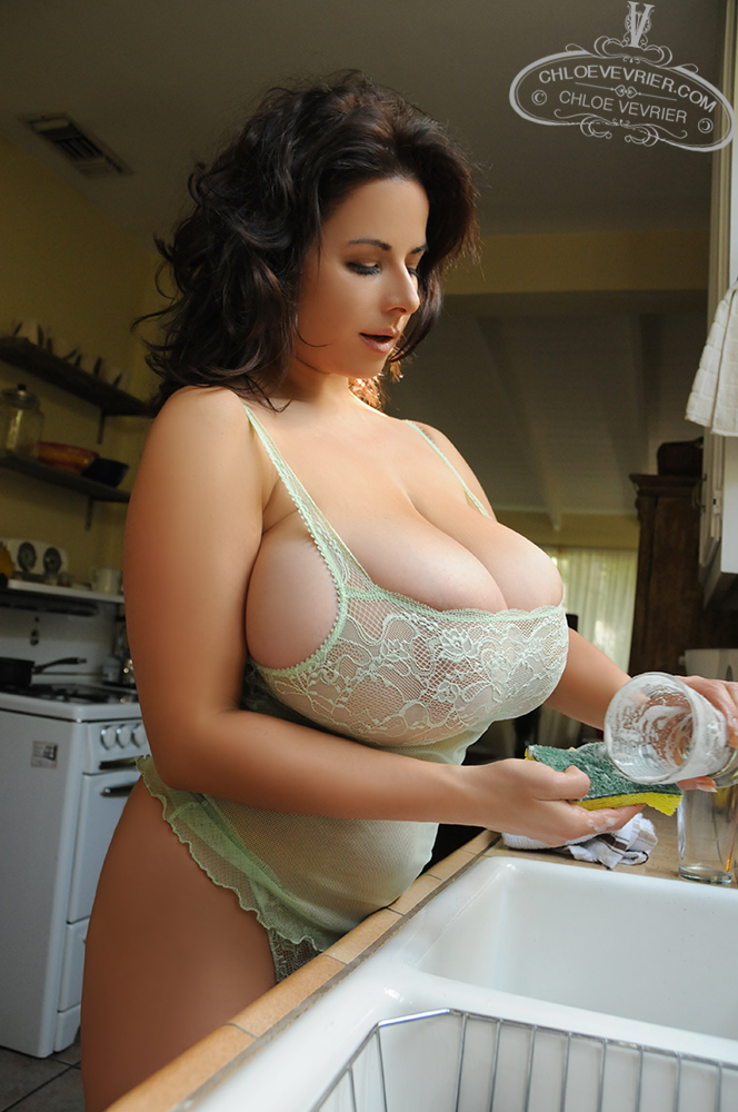 Chloe Vevrier Dishes and Lingerie - Curvy Erotic