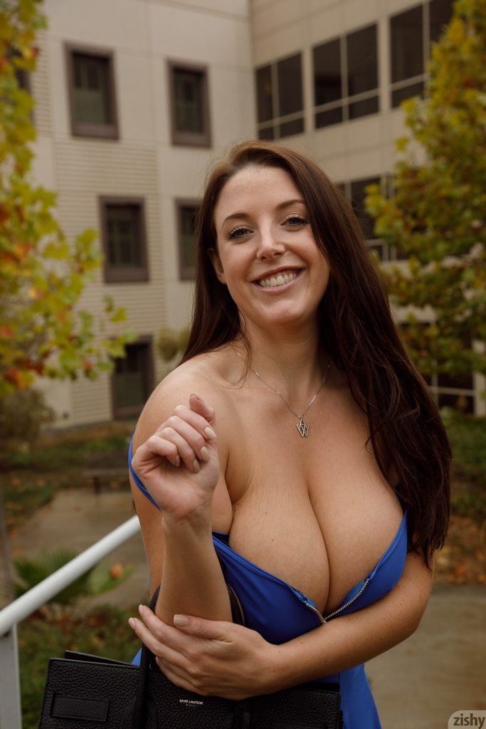 Angela white bounces her big natural tits on insta 2