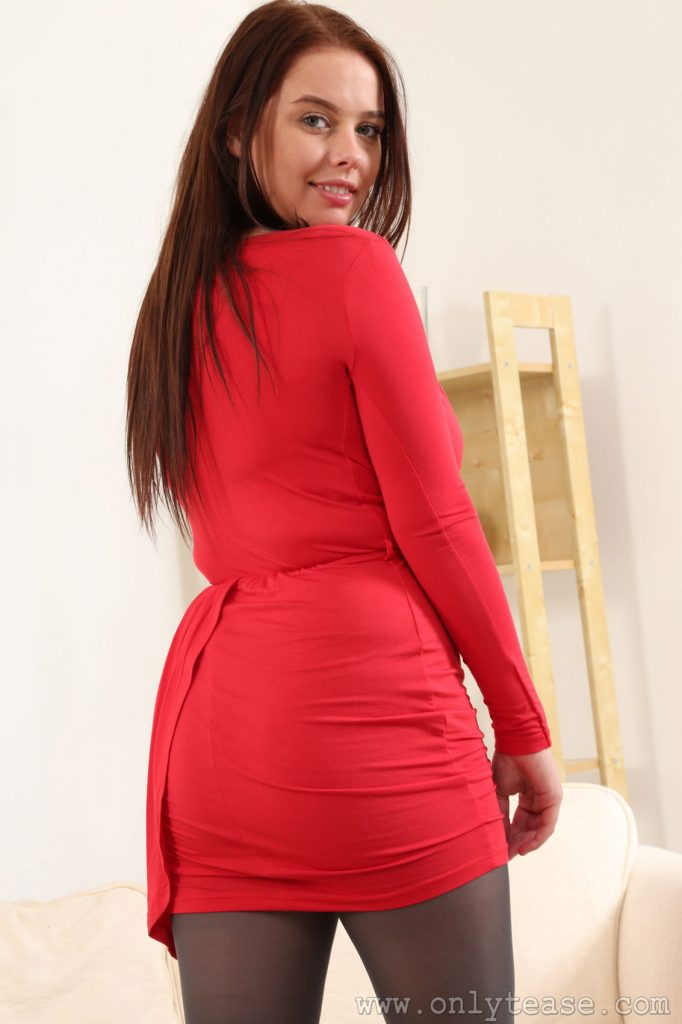 Kay Red Dress Vixen for Only Tease