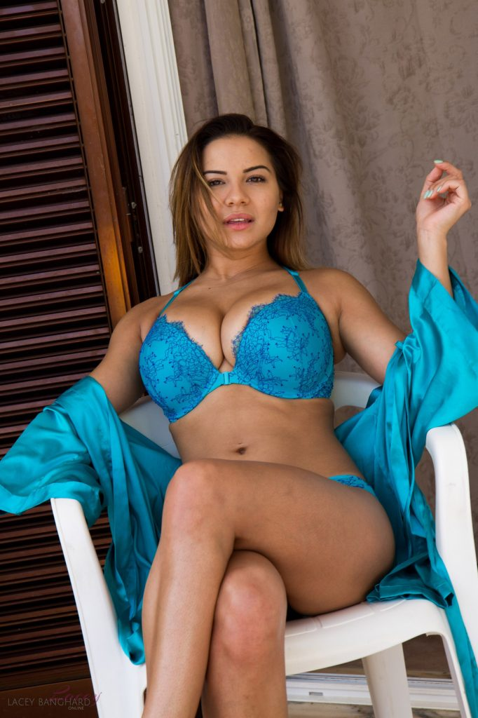 Lacey Banghard Blue Lingerie Nudes