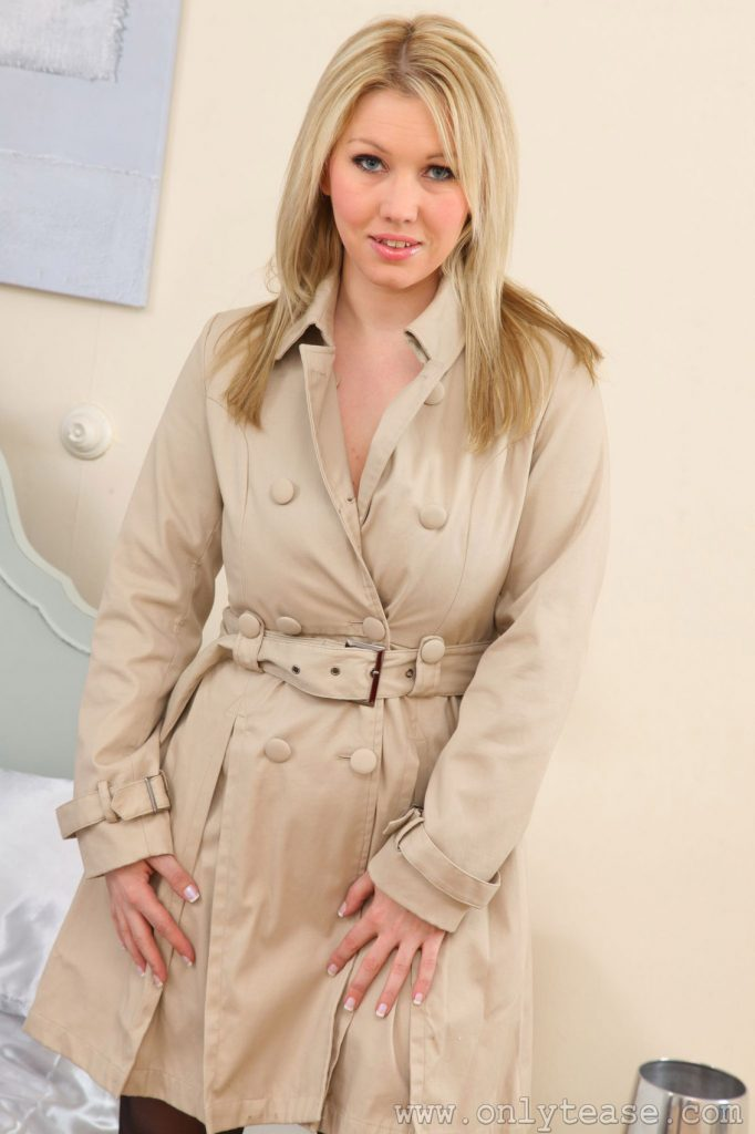 Lyla Ashby Overcoat and Lingerie for Only Tease