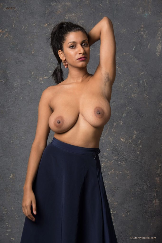 Busty india naked posing