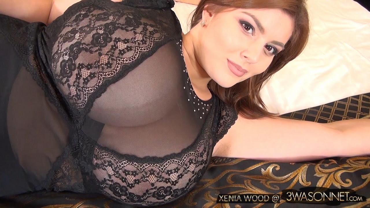 Xenia Wood Sheer Black Lingerie