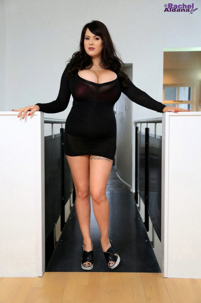 Rachel Aldana Black Dress Seduction