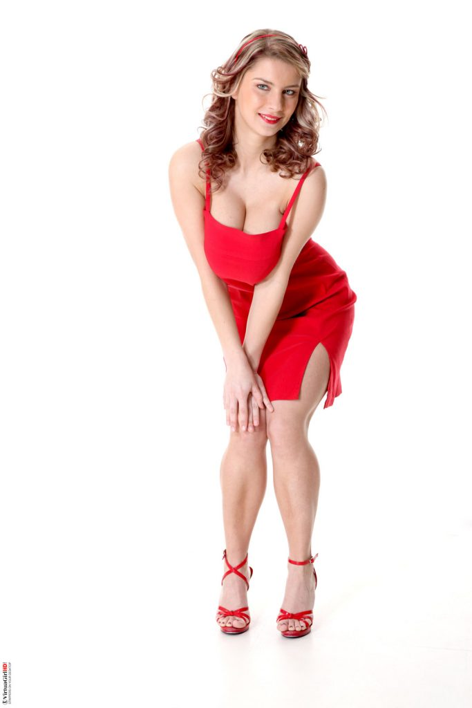 Kathy Kozy Ravishing In Red for IStripper - Curvy Erotic