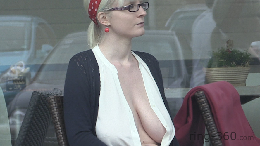 Big saggy boobs open blouse