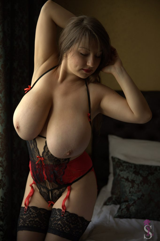 Samanta Lily Black and Red Lace Lingerie