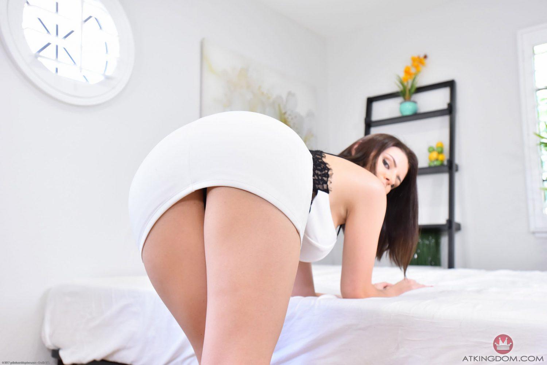 Michele James Sexy White Dress AMKingdom 3