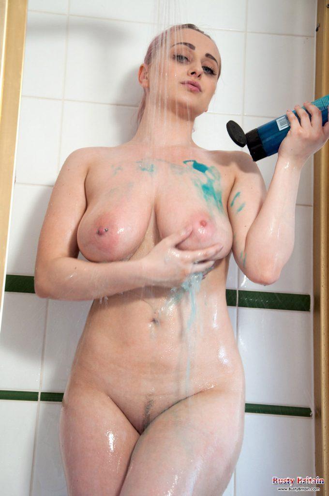 Rachel C Nude Shower Busty Britain 6