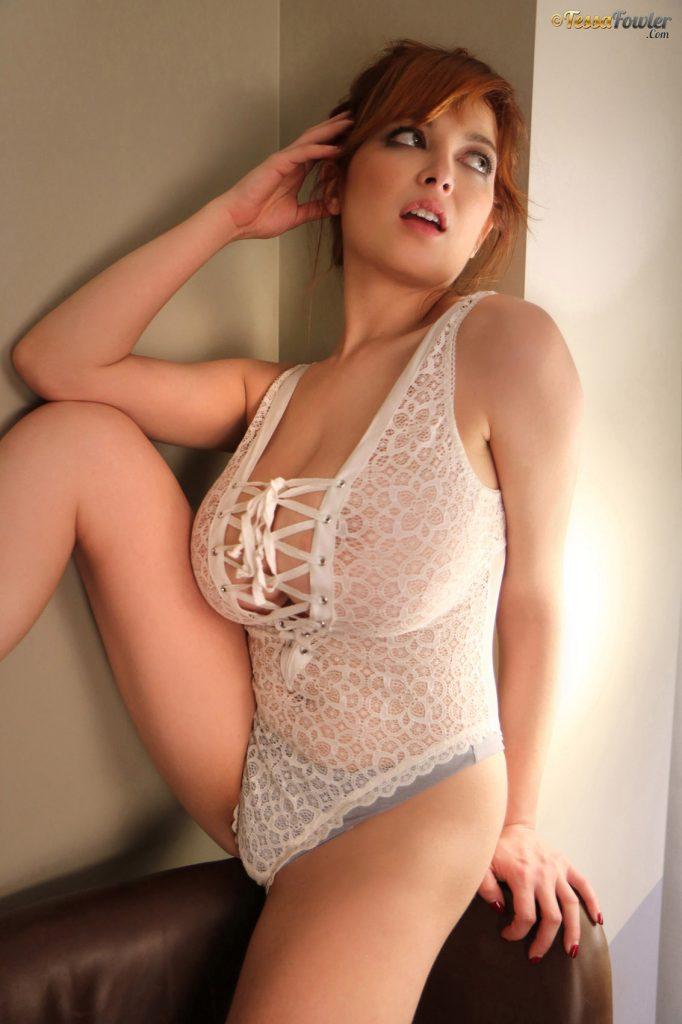 Tessa Fowler Sheer Lace Bodysuit 3